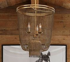 Atherton Chainmail Chandelier #potterybarn