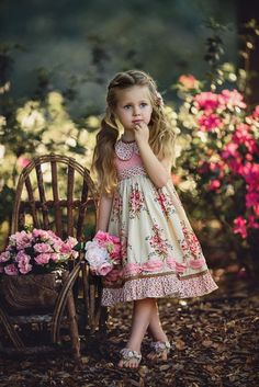 Garden Secret by Irina Chernousova - Photo 202533149 / Little Girl Dresses, Girls Dresses, Flower Girl Dresses, Beautiful Little Girls, Beautiful Children, Cute Baby Girl, Cute Girls, Cute Kids Photography, Frocks For Girls