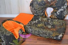 Hey, I found this really awesome Etsy listing at https://www.etsy.com/listing/187788832/mossy-oak-camo-and-orange-bumbo-cover