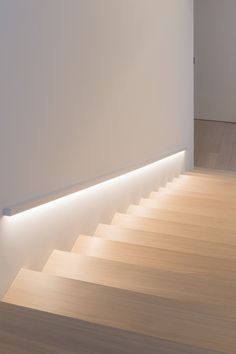 17 TOP Stairway Lighting Ideas Spectacular With Modern Interiors 17 TOP Stairway Lighting Ideas Spectacular With Modern Interiors Tanny staircase Stairways Lighting Ideas Led Light Strips On Stairway nbsp hellip Staircase Lighting Ideas, Stairway Lighting, Hall Lighting, Staircase Design, Strip Lighting, Interior Lighting, Lighting Design, Stairs Light Design, Lights On Stairs