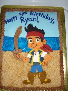 Jake The Pirate Cake Designs | jake and the neverland pirates cake this was a chocolate cake with ...
