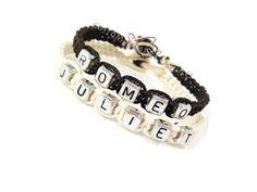 Romeo Juliet Bracelets, Couples bracelets, Boyfriend Girlfriend bracelets, Couples Gift,