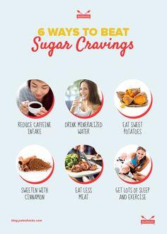 six ways to beat sugar cravings infographic