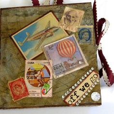 Travel journal mixed media by ld photography 12, via Flickr