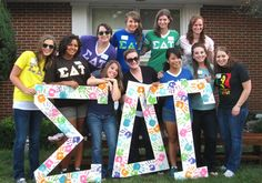 Sigma Delta Tau Letters i for real want to make some of these!!
