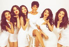 kardashians jenners photoshoot kisses beautiful kim kardashian ...