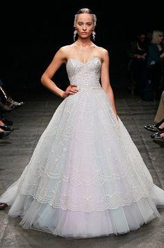 Dan & Corina Lecca, Lazaro, Spring 2013 #weddingdress #bridalgown #weddinggown