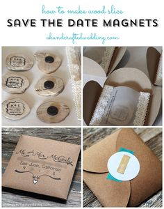 How to Make Wood Slice Save the Date Magnets | ahandcraftedwedding.com #DIY #wedding #rustic #savethedate #woodland {ahandcraftedwedding.com}
