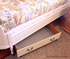 Home Organization 101: Repurpose an old dresser drawer for under bed storage. Use for out of season clothing or toys. #homeorganization