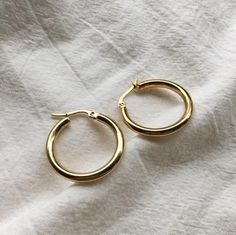REI Hoops in Gold - The Hexad Jewelry