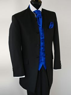black suit with royal blue shirt - Google Search | Wedding style ...