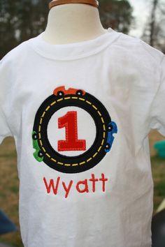 Race Car Birthday Shirt by SassyPantsDesignsLLC on Etsy, $18.50
