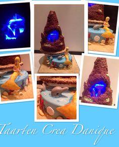 H2O cake, zeemeermin taart, mermaids cake, gemaakt met cakeframe