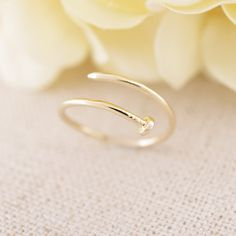 Minimalist curve nail ring, simple ring, thin ring,