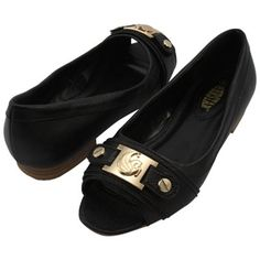 UCF Knights Ladies Open Toe Ballet Flats - Black