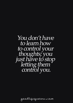 You don't have...