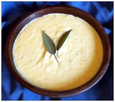 Harleian MS. 279 (ab 1430) - lxxiiij - Arbolettys - Cheese Soup - A luxuriously velvety cheese soup worthy to be served to any king! Simple ingredients of milk, butter, cheese and eggs flavored with sage, parsley, ginger and galingale.  Delicious!