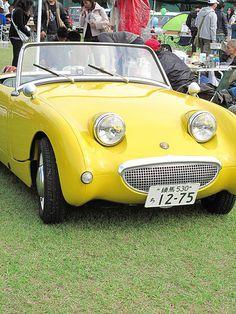 Yellow Car, Mellow Yellow, Nanjing, Classic Motors, Classic Cars, Austin Cars, Automobile, Austin Healey Sprite, British Sports Cars