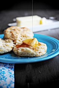 Buttermilk Biscuits drizzled with Honey