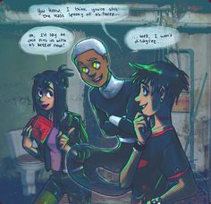 said: hey i don't know if you're still taking requests but cool you do something like the reverse trio but tucker is phantom, danny is the goth, and sam is the nerd. Phantom Comics, Really Cool Drawings, Randy Cunningham, Ghost Boy, Old Shows, Danny Phantom, Halloween Backgrounds, Deviantart, Tag Art