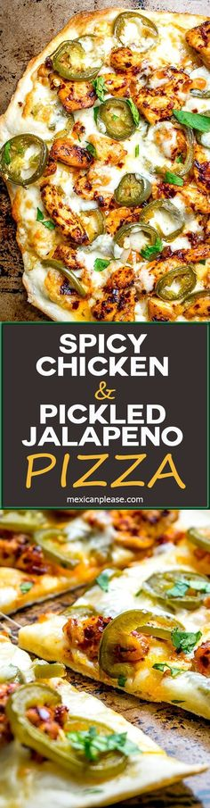 Make on cauliflower crust. This Spicy Chicken and Pickled Jalapeno Pizza is the perfect example of Mexican cooking ingredients influencing just about everything in my kitchen. A super easy and delicious pizza recipe with no special pizza gear needed! Mexican Cooking, Mexican Food Recipes, Mexican Pizza, Mexican Chicken, Recipes Dinner, Italian Chicken, Indian Recipes, Cooking Ingredients, Cooking Recipes