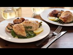 Chicken Recipes - How to Make Asparagus And Mozzarella Stuffed Chicken B...