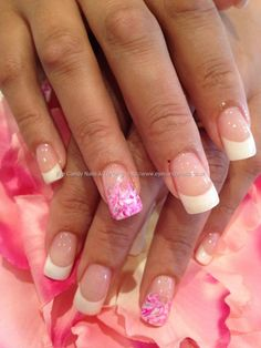 Gel polish marbling nail art