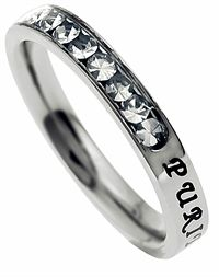 The Princess Cut Purity Birth Stone Ring April rings  I Love This!!!