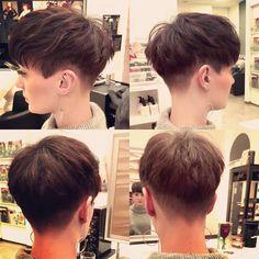 Shorthaircut Made by Jo Short Hair Dont Care, Short Hair Cuts, Hair Style Korea, Two Block Haircut, Korean Men Hairstyle, Asian Haircut, Tomboy Hairstyles, Kpop Hair, Men Hair Color