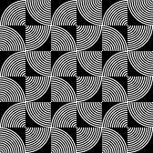 optique art : Noir et Blanc psychédélique motif textile circulaire.