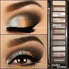 Sliver Eye Makeup - this is a pretty look. This can be easily recreated with makeup from www.lashhoney.com