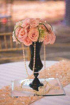 Old Hollywood Glam, NYE Wedding in Nashville   SheHeWe Photography, Flowers by Enchanted Florist
