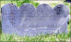 Heartbreaking: four siblings, all under five. One died each year in 1756, 1757, 1758, 1759.
