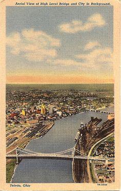 Travelling to Toledo Abandoned Train, Ohio Usa, Toledo Ohio, Local History, My Childhood Memories, Altars, Homeland, Vintage Postcards, Bridges