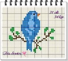 Most recent Snap Shots Cross Stitch bird Tips Cross-stitch is a straightforward type of needlework, compatible towards materials available to stit Xmas Cross Stitch, Cross Stitch Bookmarks, Cross Stitch Art, Cross Stitch Borders, Cross Stitch Animals, Cross Stitch Designs, Cross Stitching, Cross Stitch Embroidery, Embroidery Patterns