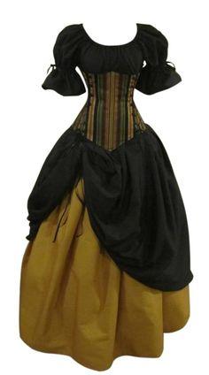 Temptation Under-bust Corset Set - renaissance clothing, medieval, costume Renaissance Costume, Medieval Costume, Renaissance Clothing, Medieval Dress, Historical Clothing, Vintage Outfits, Vintage Fashion, Steampunk Fashion, Medieval Clothing