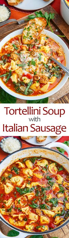 Tortellini Soup with Italian Sausage | Closet Cooking