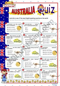 The in the series of English-speaking countries. Kids find out how much they know about New Zealand. The questions are about general, easy facts. Have a nice Sunday. Australia For Kids, Australia Crafts, Flashcards For Kids, Worksheets For Kids, Australian Party, English Day, World Thinking Day, Vocabulary Worksheets, Cool Writing