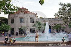 Lovers by the fountain in Balboa Park San Diego. California is for lovers