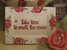 Emma Bridgewater Rose & Bee personalised plaque