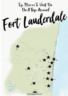 15 Of The Best Things To Do In Fort Lauderdale - Hand Luggage Only - Travel, Food & Photography Blog Fort Lauderdale Things To Do, Fort Lauderdale Restaurants, Top Travel Destinations, Places To Travel, Hollywood Beach Florida, Key West Florida, Florida Vacation, Travel Planner, Travel Images