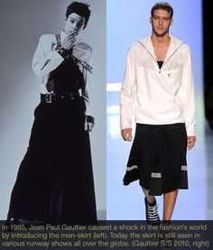 skirt for man  | , mens skirt, Jean Paul Gaultier skirt, invention men skirt ...