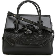 Versace Palazzo Empire Shoulder Bag (€2.280) ❤ liked on Polyvore featuring bags, handbags, shoulder bags, shoulder strap bags, crossbody shoulder bag, versace crossbody, cross body and shoulder bag purse