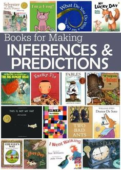 Books for Making Inferences and Predictions fantastic texts for teaching kids to read between the lines This Reading Mama Reading Strategies, Reading Activities, Reading Skills, Teaching Reading, Teaching Kids, Learning, Guided Reading, Inference Activities, Reading Response