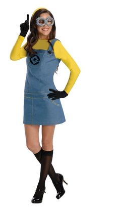 rubies secret wishes costume despicable me 2 female minion dress with accessories the skirt is - Modest Womens Halloween Costumes
