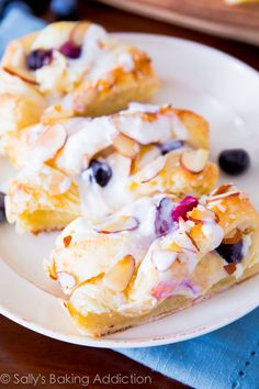 Blueberries 'n Cream Danish Braid - create a flaky, buttery cream cheese Danish at home. Step-by-step photos included!