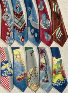 1952 Men's Ties Price: 97 cents Description A variety of patterned ties for men. Choose from more dressy, work appropriate looks or fun casual ...