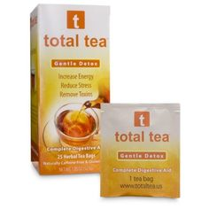 Gentle Detox + Doctor Recommended for Weight Loss Diet and Colon Cleanse + 10 All Natural Herbs + Delicious Cinnamon Citrus Aroma + 25 Individually Wrapped Tea Bags + Satisfying Dieters for 10 Years Total Tea http://www.amazon.com/dp/B007XIMA32/ref=cm_sw_r_pi_dp_wxo2vb10B2WQX