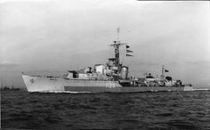 HMS Carysfort, a C class Destroyer, originally ordered as HMS Pique  from J.Samuel White & Co, Cowes & commssioned on 10/02/45, by which time her name had been changed to comply with her sster ships in the class.  Placed in reserve at end of WW II. After extensive modernisation recommissioned on 04/03/58. continued in service until reverting back to the resrve on 02/69. Sold for scrap on 23/10/70