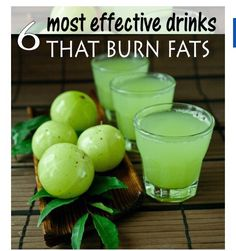 """6 MOST EFFECTIVE DRINKS THAT BURN FATS"""